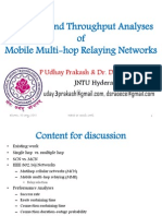 Coverage and Throughput Analyses for Multihop Relaying Networks