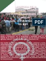 DECLARATORIA DE LA ASAMBLEA DE  MUJERES ´POPULARES [Autoguardado]