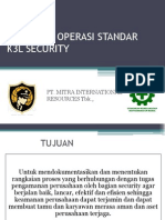 Prosedur Operasi Standar k3l Security