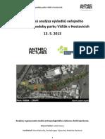 Závěrečná analýza výsledků veřejného projednání podoby parku Vidlák v Hostavicích