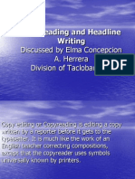 Journ Training-Copyreading and Headline Writing
