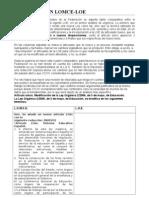 Tabla Comparativa Entre El Anteproyecto de LOMCE y La Vigente LOE
