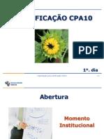 CERTIFICAÇÃO CPA10 REVISADO JAN 2011