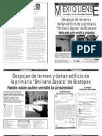 Versión impresa del periódico El mexiquense  26 agosto 2013