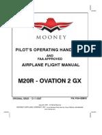 Mooney M20R Ovation 2 GX - Pilot's Operating Handbook and Airplane Flight Manual