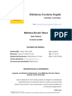 Proyecto Biblioteca Escolar Tabora.