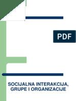 SOCIJALNA INTERAKCIJA