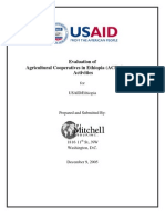 Evaluation of Agricultural Cooperatve in Ethipopia