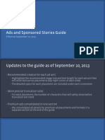 Ads and Sponsored Stories Guide as of Sept 102013