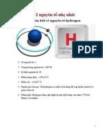 Cần biết về 2 nguyên tố nhẹ nhất H & He