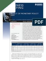 C&W Impact of Monetary Policy 2009