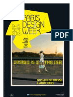 Paris Design Week 2013 - dossier de presse