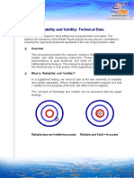 Identity Personality Test Validity