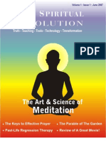 Art & Science of Meditation -  Your Spiritual Revolution - Issue 1 - June 2007
