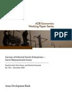 Surveys of Informal Sector Enterprise - Some Measurement Issues