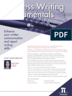 Business Writing Fundamentals