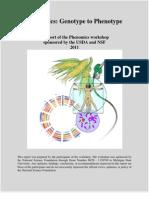 Phenomics Workshop Report