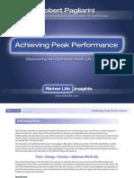 Achieving Peak Performance Richer Life Insights