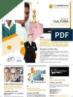 Programación Aula Cultura-Alicante. Septiembre/Octubre 2013. Obra Social. Caja Mediterráneo