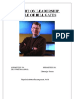 Leadership Style of Billgates