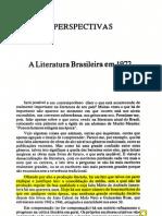 A Literatura Em 1972 - Antonio Candido