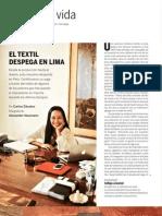 El textil Despega en Lima en el País Semanal