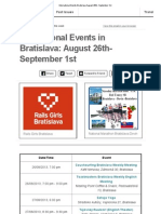 International Events Bratislava August 26th- September 1st