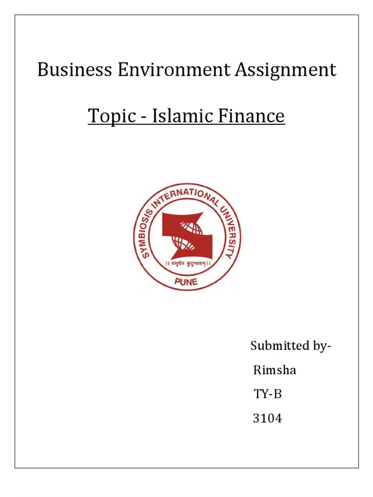 assignment on islamic banking islamic banking and finance banks