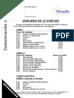 Horario Buses 2009