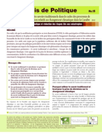 CANARI Précis de Politique No. 15 - L'utilisation des savoirs traditionnels dans le cadre des processus de prise de décision relatifs au changement climatique dans la Caraïbe