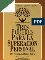 Libro Tres Poderes Para La Superacion Personal - Dr Peiro