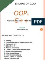 OOP in C++