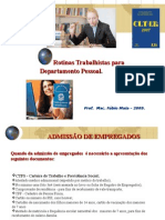 CURSO DE EXTENSÃO - CÁLCULOS TRABALHISTAS.2009