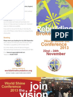 World Shine UK Conference 2013 Leaflet