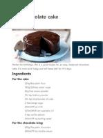 Easy Chocolate CakeR