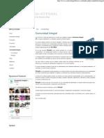 Conciencia Integral - Comunidad Integral