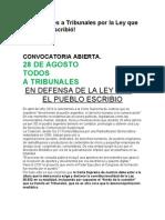 Convocatoria Al Sab.24-4