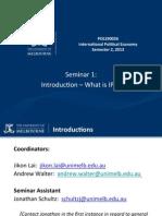 Seminar 1-2013 Introduction to IPE(1)[1]