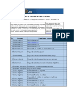 Lista de Proprietati Din Algebra