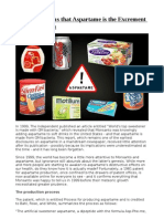 Patent Confirms That Aspartame is the Excrement of GM Bacteria,Docx
