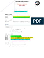 Atlantic Cluster National Service Training Conference Agenda at a Glance