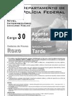 Cargo 30 - Agente Administrativo -Prova Roxa