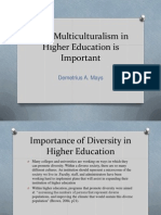 Multicultural Affairs in Higher Education