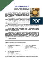 La Tortilla de Papas, Texto Instructivo