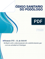 CÓDIGO SANITARIO DO PODÓLOGO