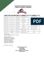 Perspectives Charter Schools 2013 Varsity Football Schedule