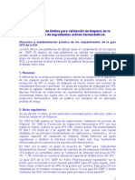 24350727 Justificacion de Limites Para Validacion de Limpieza en La Fabricacion de Ingredientes Activos