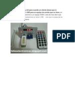 Este es un post muy útil para lector USB para un equipo de sonido que no tiene
