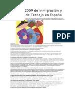 Informe 2009 de Inmigración y Mercado de Trabajo en España