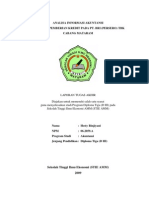 Analisis Informasi Akuntansi Terhadap Pemberian Kredit Di PT BRI Cabang Mataram